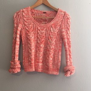 Free People Cable Knit Scoop Neck Sweater